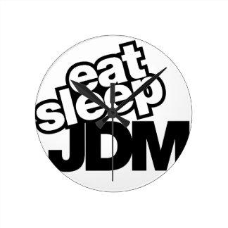äta sömn JDM Rund Klocka
