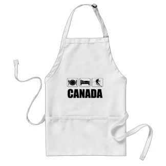 Äta sömn skidar Kanada Förkläde