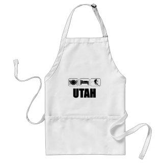 Äta sömn skidar Utah Förkläde