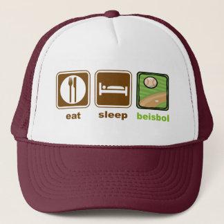 äta sömnbeisbolen keps