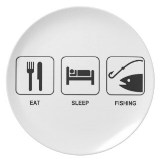 Äta sömnfiske tallrik