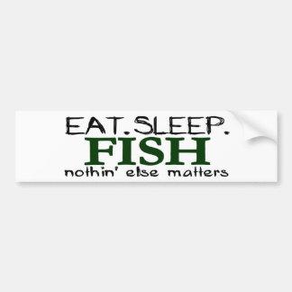 Äta sömnfisken bildekal