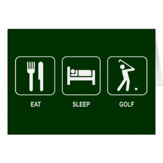 Äta sömnGolfkortet Hälsningskort