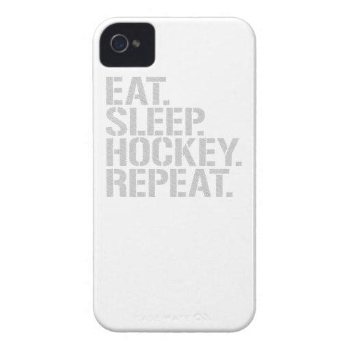 Äta sömnhockeyrepetition Case-Mate iPhone 4 fodraler