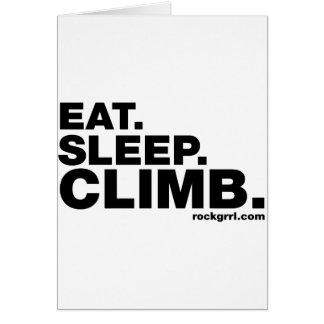 Äta sömnklättringen hälsningskort