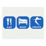 Äta sömnKroatien Vykort