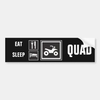 Äta sömnKVADRATEN! Bildekal