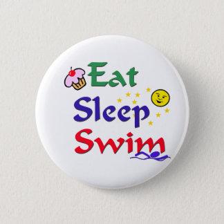 Äta sömnsimman standard knapp rund 5.7 cm