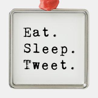 Äta sömntweeten julgransprydnad metall