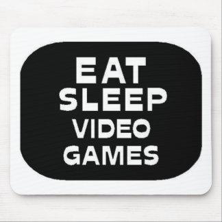 Äta sömnvideospel mus mattor