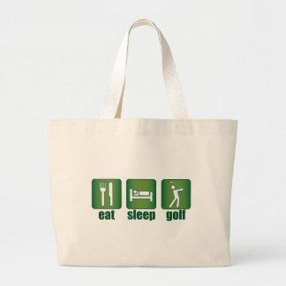 Äta, sova, Golf Jumbo Tygkasse