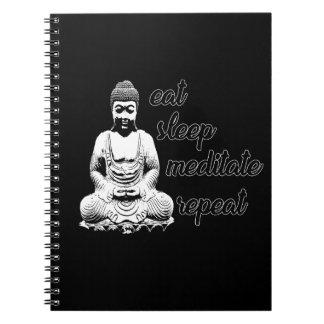 Äta, sova, meditera, repetition anteckningsbok
