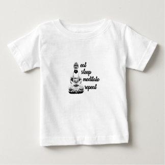 Äta, sova, meditera, repetition t shirt