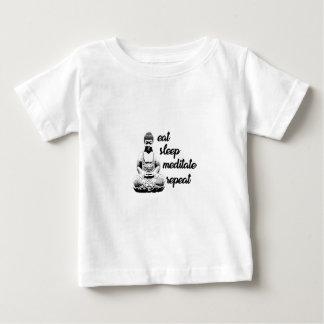 Äta, sova, meditera, repetition tee shirt