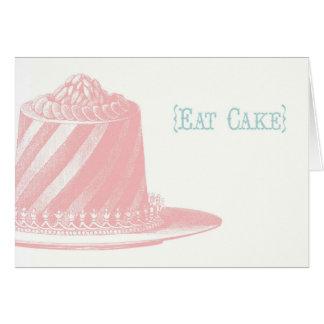 Äta tårtafödelsedagkortet hälsningskort