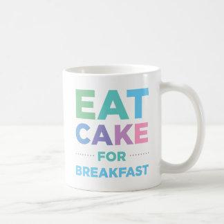 Äta tårtan för frukostmugg kaffemugg