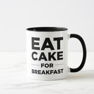 Äta tårtan för frukostmugg mugg