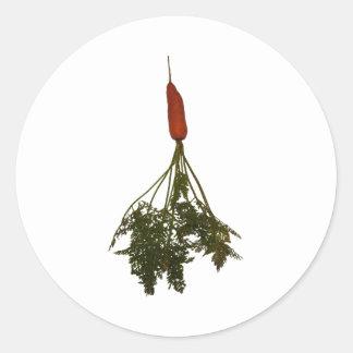 Äta veggies, morot avbildar runt klistermärke