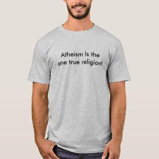 Ateism är den en riktiga religiont-skjortan t-shirt
