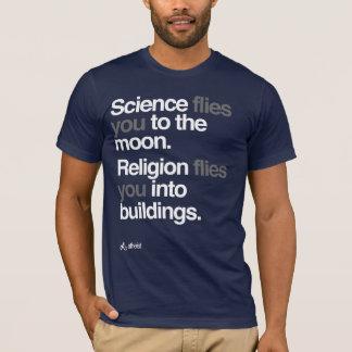 Ateist - vetenskap flyger till månen t-shirt