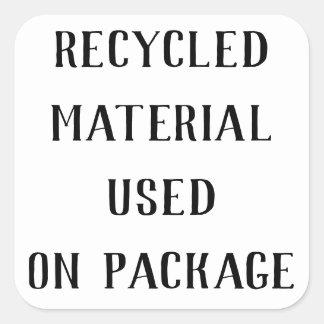 Återanvända materiella Repurpose Fyrkantigt Klistermärke