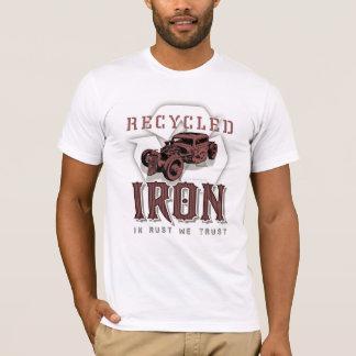 Återanvänt järn t shirts