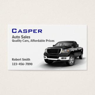 Återförsäljare för använd bil visitkort