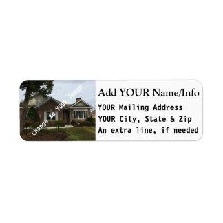 Återgång brevskickandeadressetiketter, för kuvert returadress etikett