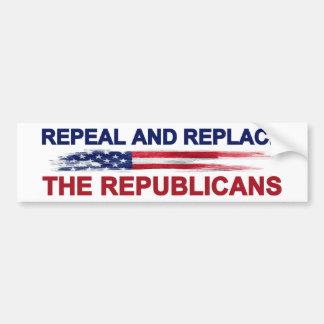 Återkalla och byt ut republikanerna bildekal
