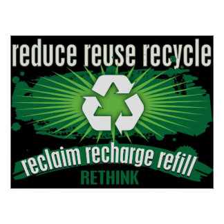 Återkräva, Recharge och återvinna Poster