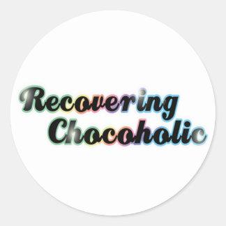 Återställa chokladtokig runt klistermärke