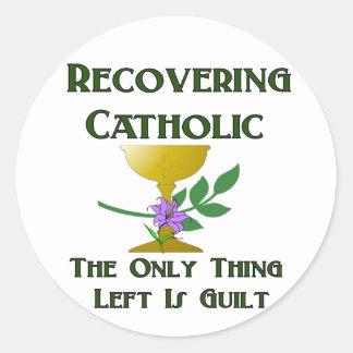 Återställa katolik runt klistermärke