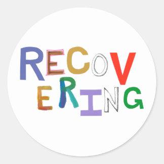Återställa läka skraj ordkonst för ny början runt klistermärke