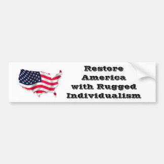 Återställande Amerika/ojämn Individualism Bildekal
