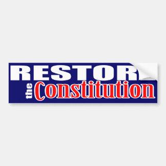 Återställande konstitutionen bildekal