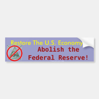 Återställandet U.S.-ekonomin, avskaffar den matade Bildekal