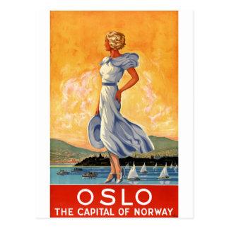Återställd affisch för Oslo norgevintage resor Vykort
