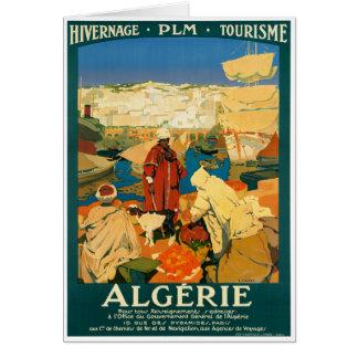 Återställd Algeriet vintage resoraffisch Hälsningskort