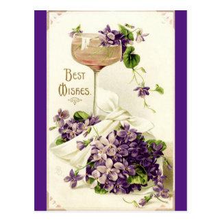 Återställd bäst önskemålvykort för vintage vykort