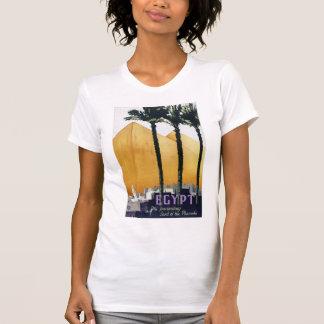 Återställd egyptenvintage resoraffisch t shirt