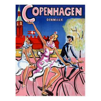 Återställd Köpenhamnvintage resoraffisch Vykort