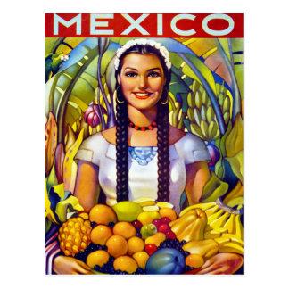 Återställd Mexico vintage resoraffisch Vykort