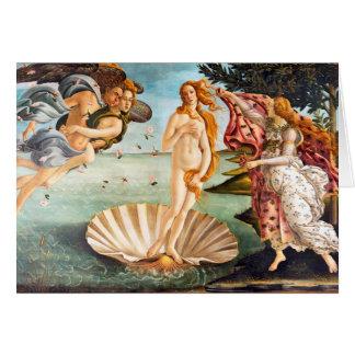 Återställd och Recolored Botticelli födelse av Hälsningskort
