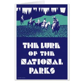 Återställd USA nationalparkvintage affisch Hälsningskort