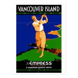 Återställd USA Vancouver övintage affisch Vykort