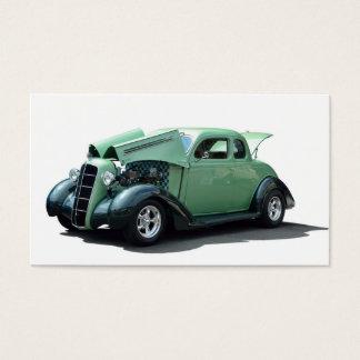 Återställd vintage car visitkort