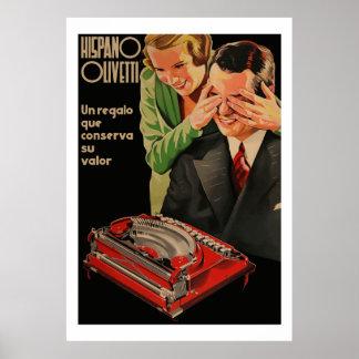 (Återställda) vintageOlivetti annonser, Poster