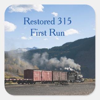 Återställt 315 första springa fyrkantigt klistermärke