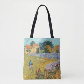 Återställt lantbrukarhem i Provence av Van Gogh Tygkasse