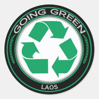 Återvinna Laos Runt Klistermärke